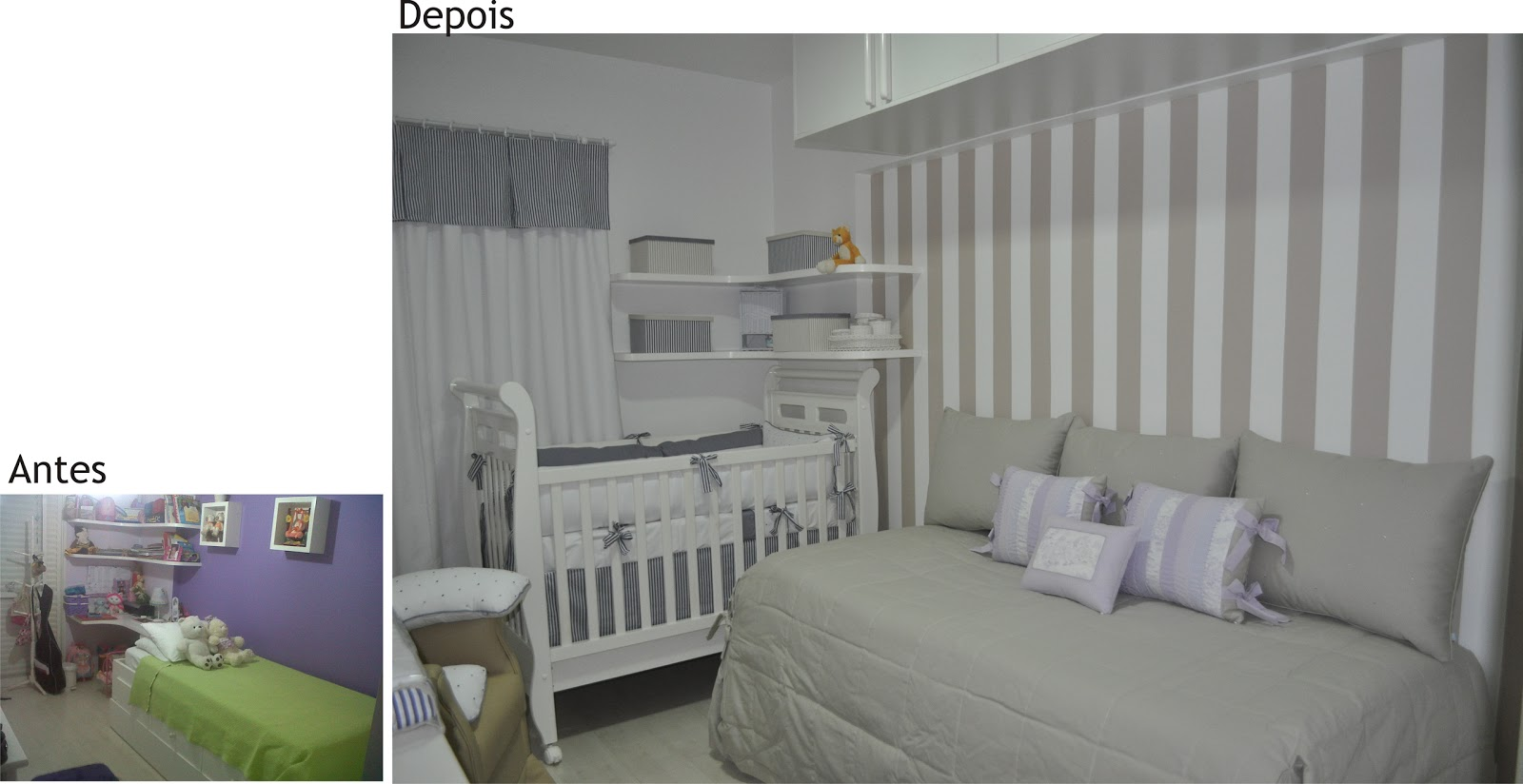 Decora O Do Quarto Do Bebe Junto Com O Dos Pais ~ Decoracoes De Quarto De Bebe E Organizar Quarto Pequeno