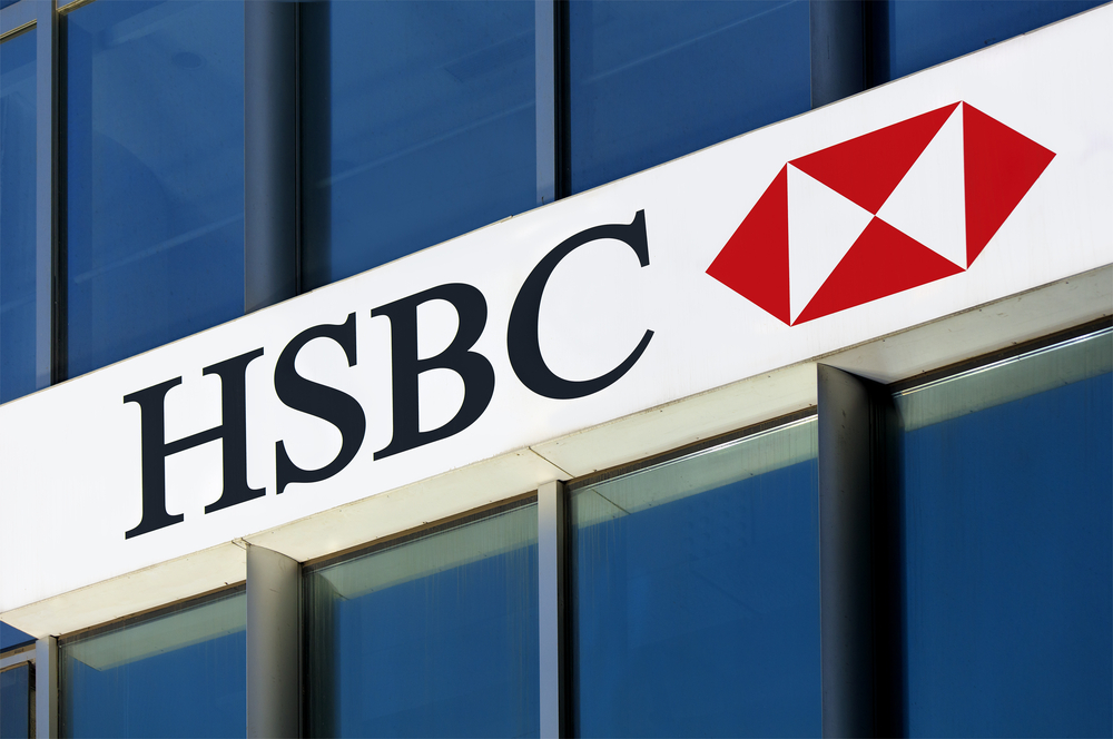 HSBC Logo on a Building