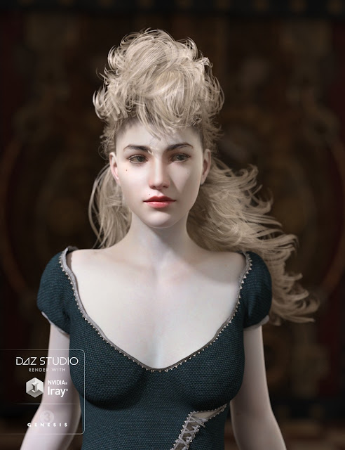 Midnight Special Hair for Genesis 3 Female