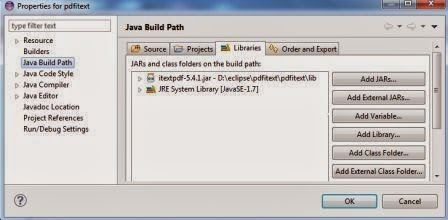 Java programs: iText