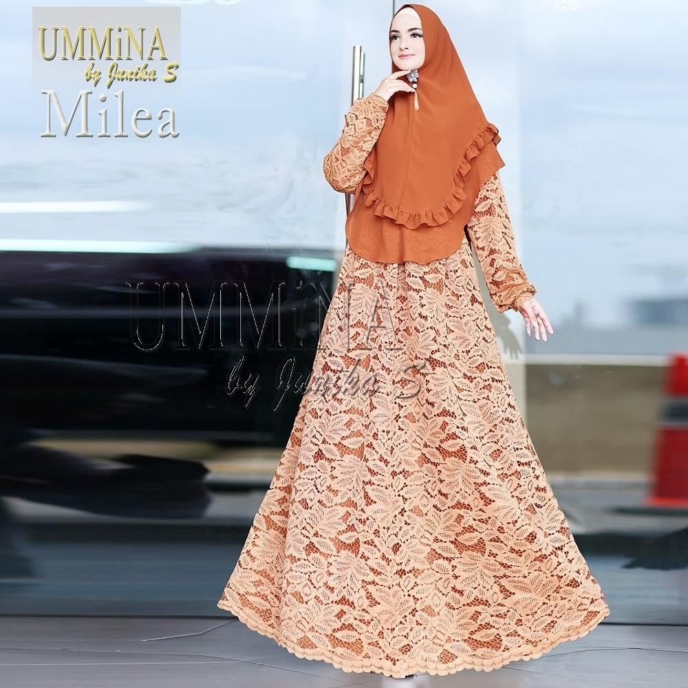 Milea Brocade By Ummina Gerai Gamis Shafiyya Baju