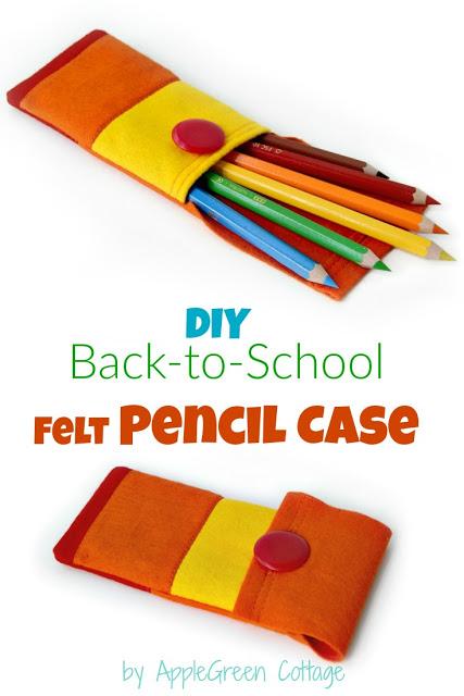 how to make felt pencil case