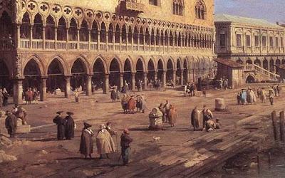 Riva degli Schiavoni. Un dettaglio dell'opera