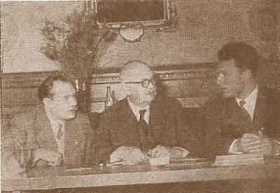 Miembros del Comité Organizador del III Campeonato Mundial Universitario de Ajedrez - Uppsala 1956