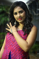 Srushti in beautiful Pink Sleeveless Dress Cute Actress Dimples ~  Exclusive 015.JPG