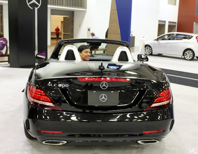Black convertible Mercedes at the Twin Cities auto show