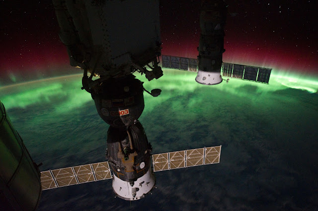 Aurora and the International Space Station