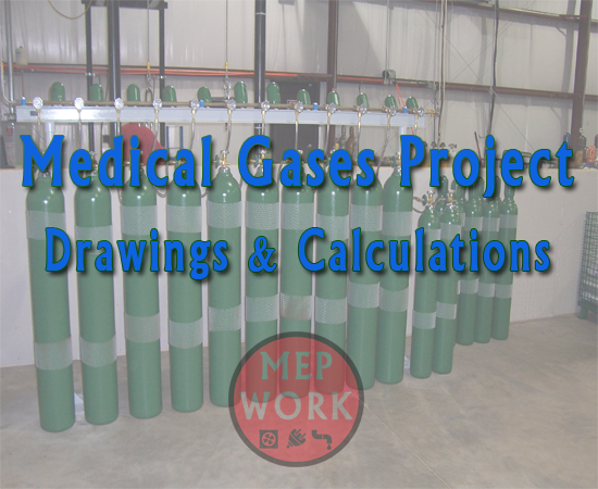 Medical Gases Project AutoCAD Drawings with Calculations - dwg and pdf files