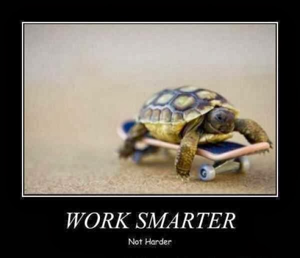 WORK SMARTER NOT HARDER- TIPS