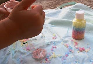 Lavoretto per bambini: Sale colorato