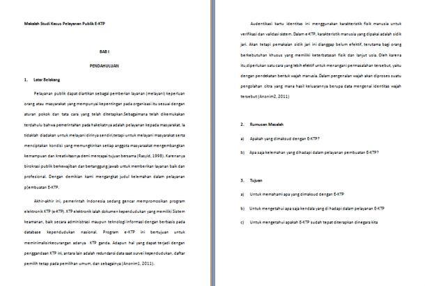 Contoh Makalah Studi Kasus Pelayanan Publik E-KTP
