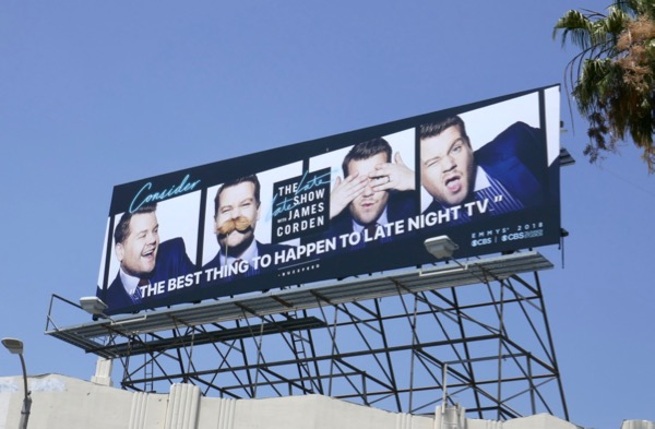 Late Show James Corden 2018 Emmy FYC billboard
