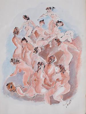 Luigi Santi - coppia di acquerelli - arte - annunci