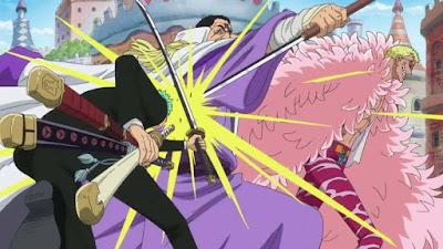 Zoro đối đầu Đô Đốc Fujitora ( Hổ Tím )