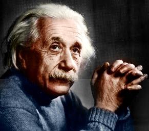 Imagen de Albert Einstein mirando hacia arriba