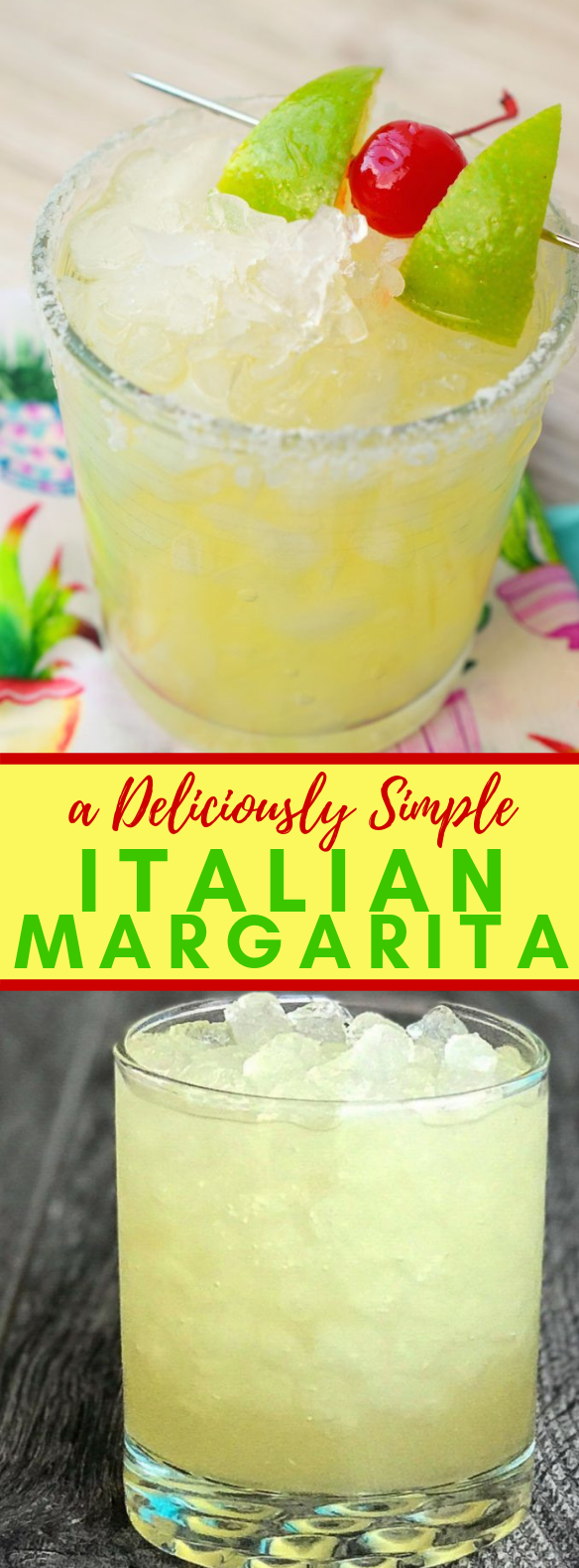 THE BEST ITALIAN MARGARITA YOU'VE EVER TASTED #drink #cocktail