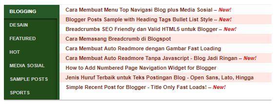 Cara Membuat Halaman Daftar Isi (Sitemap) Blogger