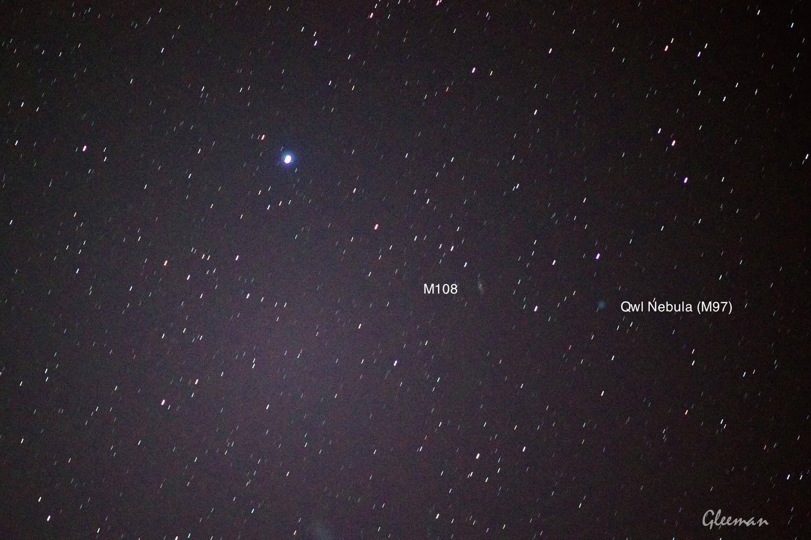M108 和 Owl Nebula (M97 貓頭鷹星雲)/ Pentax  K5 + Pentax O-GPS1 + DA*200