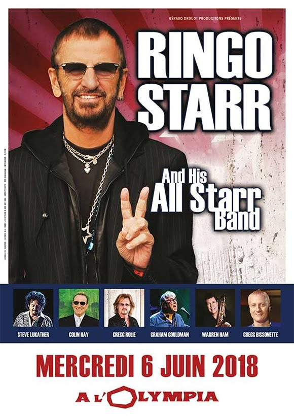 Tournée européenne 2018 : Ringo Starr à l'Olympia