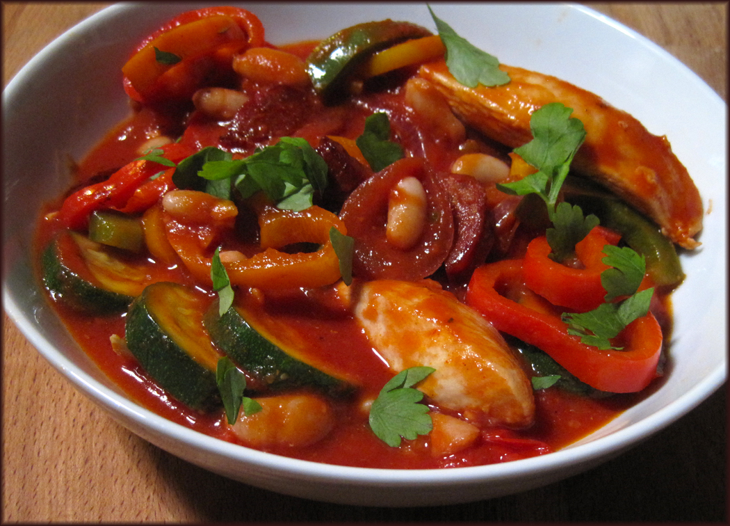 Spanish-Style Chicken and Sweet Pepper Stew
