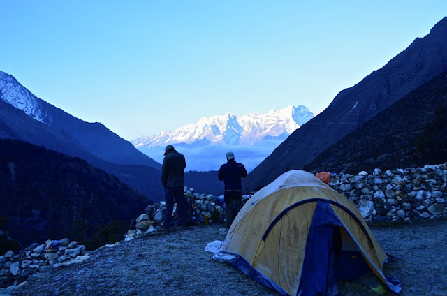 On Everest base camp, you will clear to see the summit of Everest,it's so  amazing!