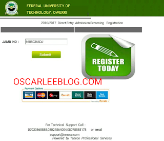 Futo direct Entry portal
