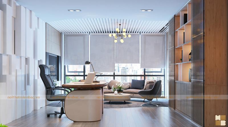 Thiết kế nội thất phòng giám đốc kết cấu mở