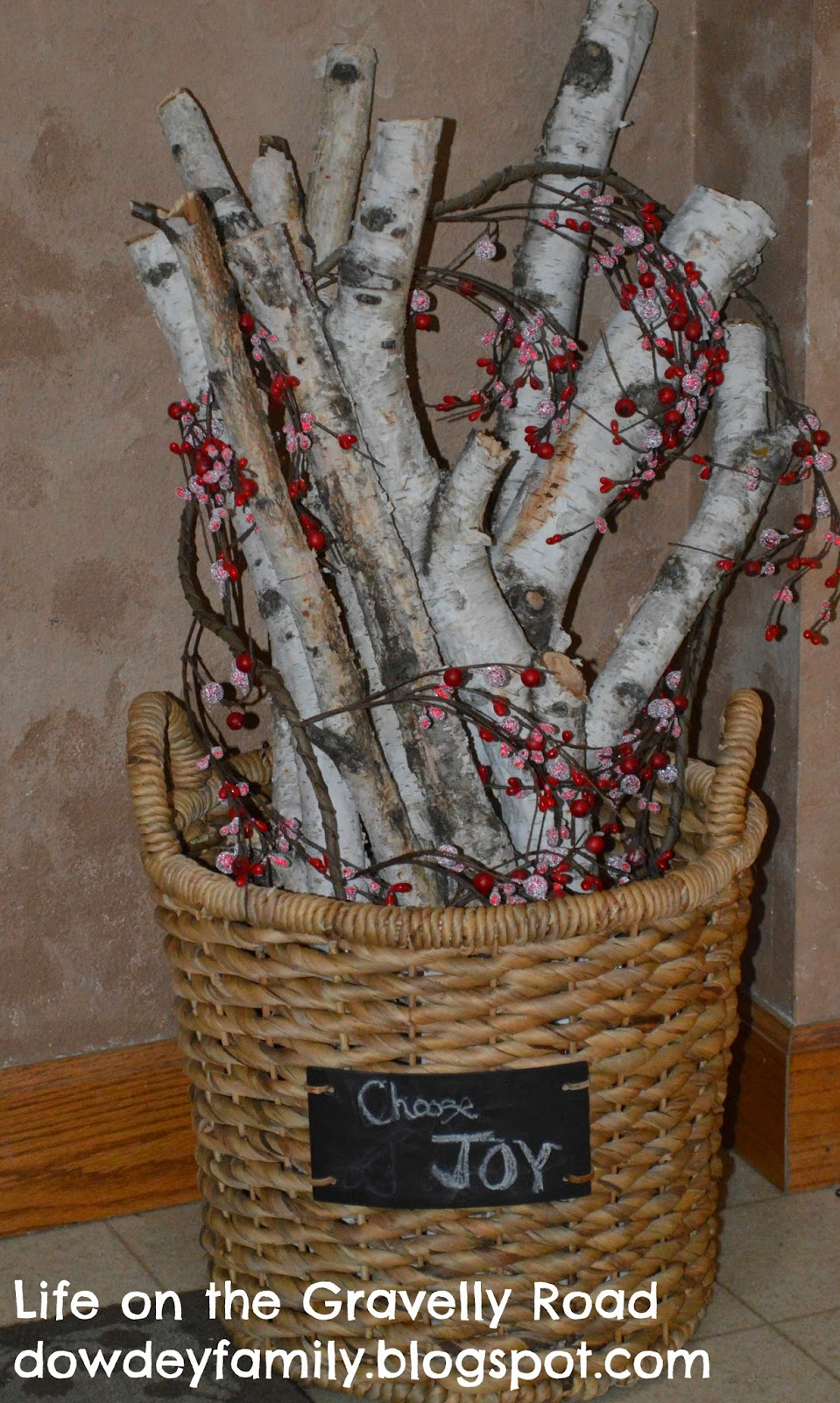 decor with birch branches