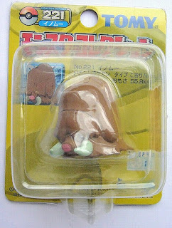 Piloswine Pokemon figure Tomy Monster Collection yellow package series