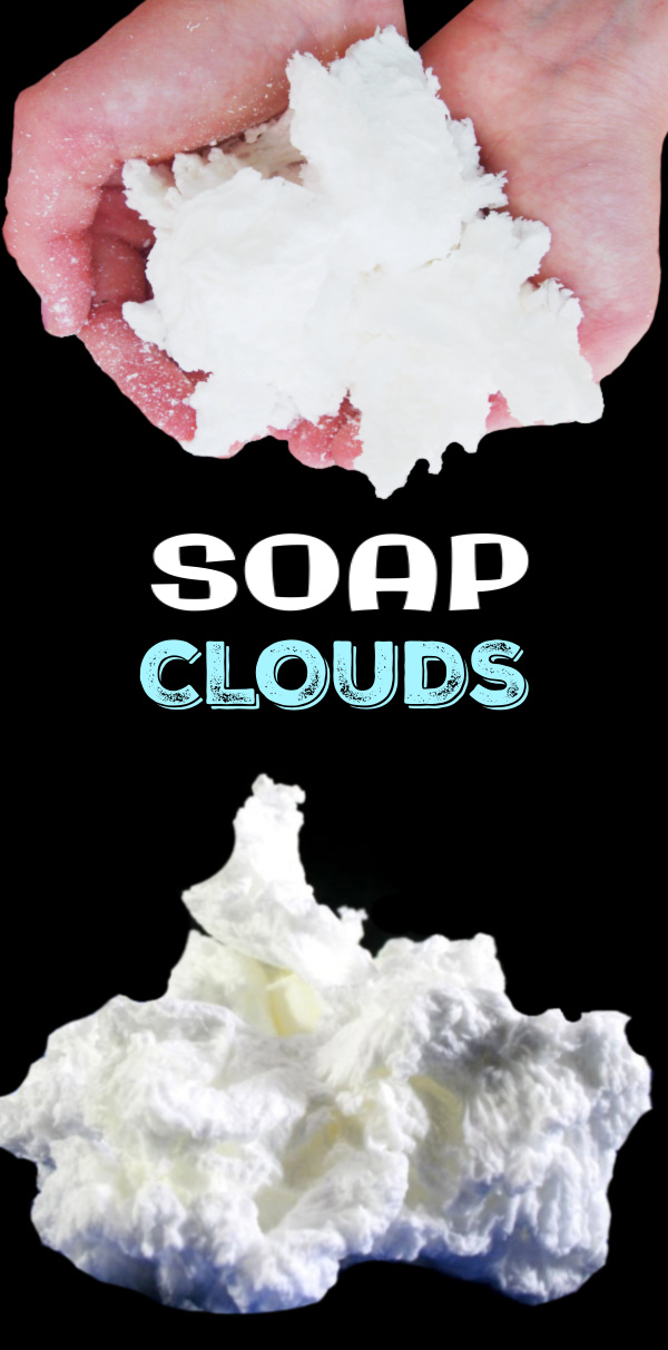 Turn soap into fluffy clouds with the exploding soap experiment for kids! One bar of Ivory soap and a microwave is all you need for this project!   #soapclouds #ivorysoapexperiment #explodingsoapexperiment #ivorysoapinthemicrowave #soapexperimentforkids #soapcloudsexperiment #ivorysoap #scienceexperimentskids #growingajeweledrose