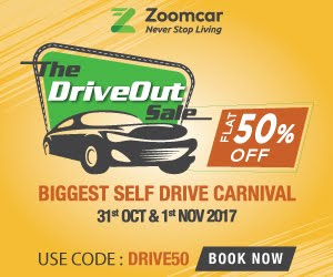 Drive Out Sale Flat 50 off on Zoomcar