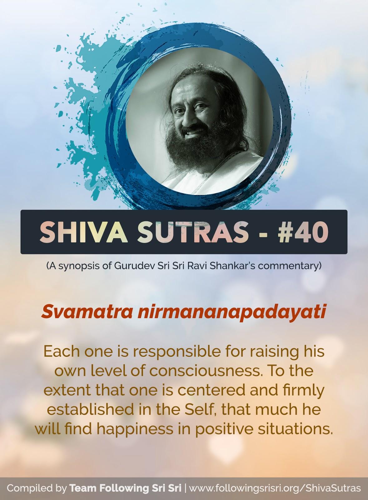 Shiva Sutras - Sutra 40