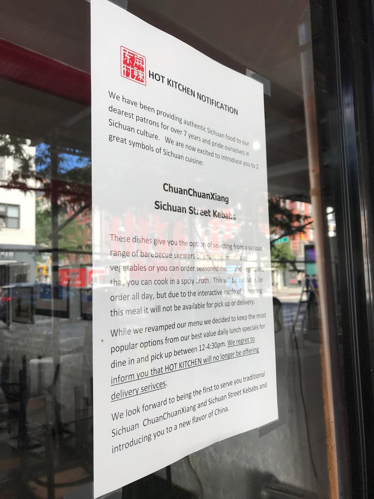EV Grieve: Hot Kitchen will no longer offer deliveries