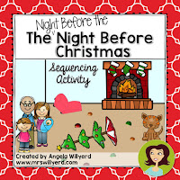 Are you reading The Night Before the Night Before Christmas by Natasha Wing?  This sequencing activity is a great companion activity to this hilarious story.  Students will practice their retelling and comprehension skills by cutting and pasting illustrated cards into the correct order on a final storyboard.
