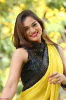Cute Actress Ashwini in Yellow Saree Exclusive  021.JPG