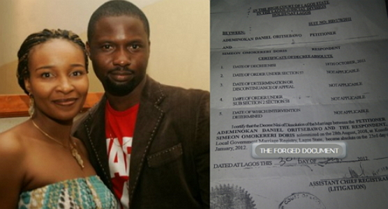 daniel ademinokan fake court divorce