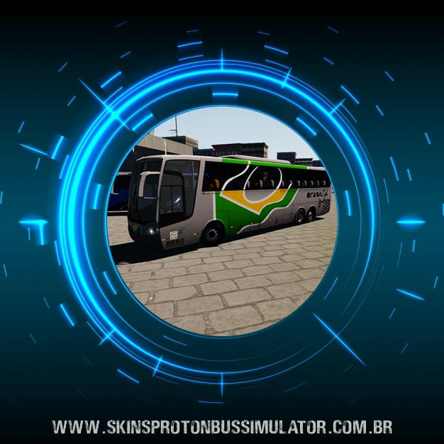 Skin Proton Bus Simulator Road - Vissta Buss HI O-500 RSD Viação Brasil Sul