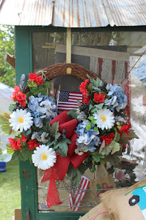 American flag wreath