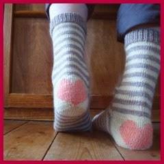 Calcetines de punto con corazón