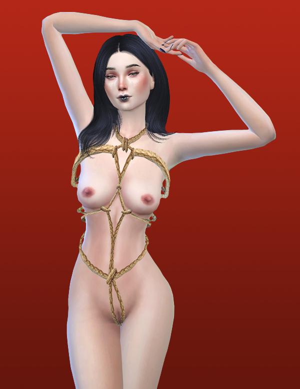 Peach ruffle bikini