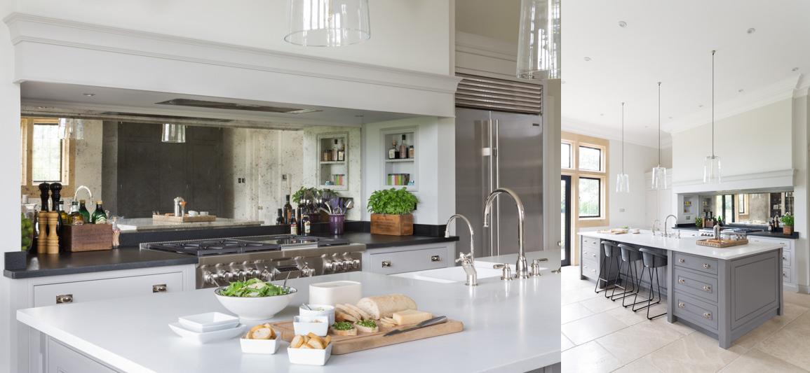 Uno specchio in cucina shabby chic interiors - Posto con molti specchi ...