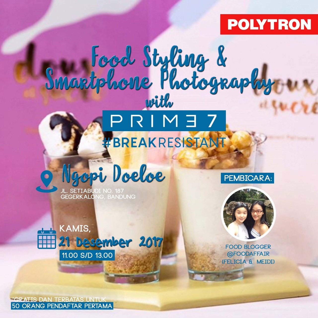 Tips Memotret Food Styling Dari Foodaffair, Dan Berkenalan Dengan Smartphone Photography PRIME 7