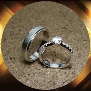 cincin emasputih perak p5255