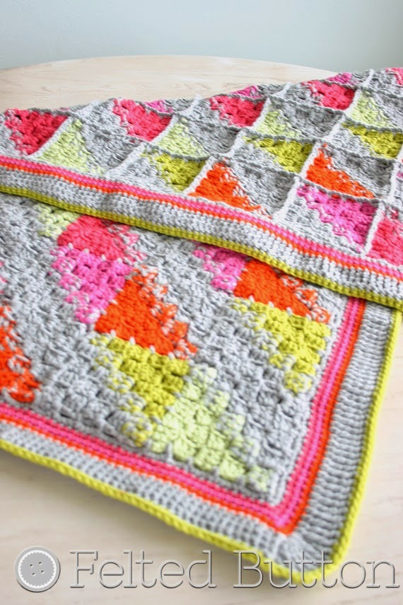 Puzzle Patch Blanket Crochet Pattern by Felted Button