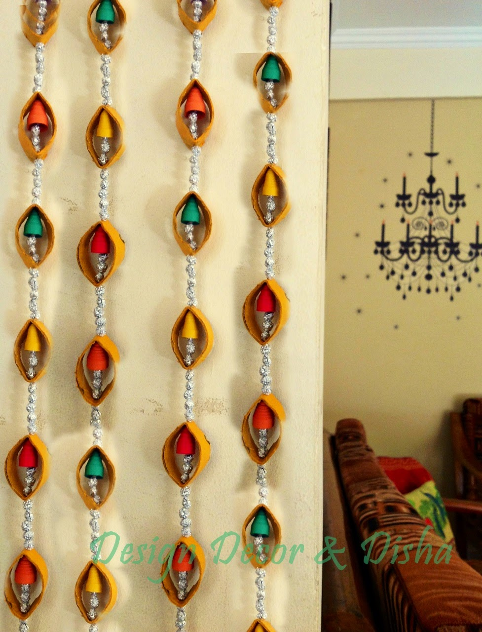 Design decor disha an indian design decor blog diy for Art and craft for wall decoration