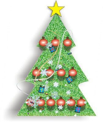Felices fiestas. Arbolito de navidad en collage