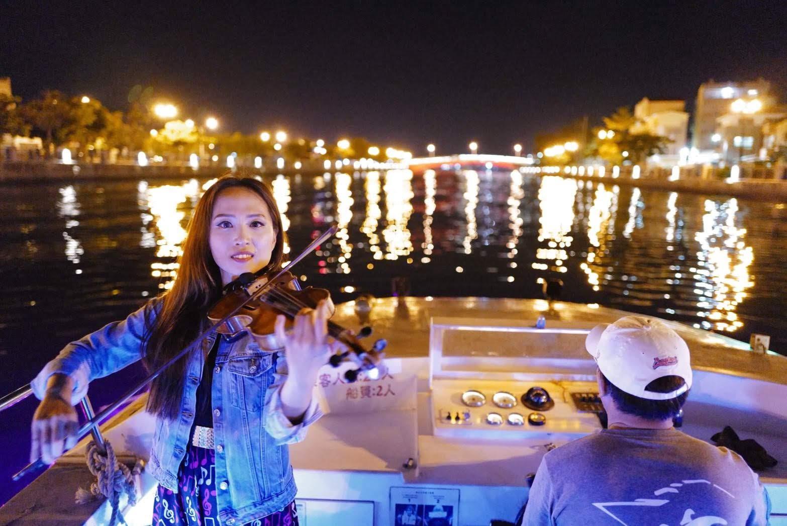 國慶連假搭船賞光雕優惠 安平運河夜遊浪漫又半價