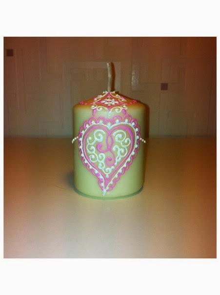 свеча на валентинов день