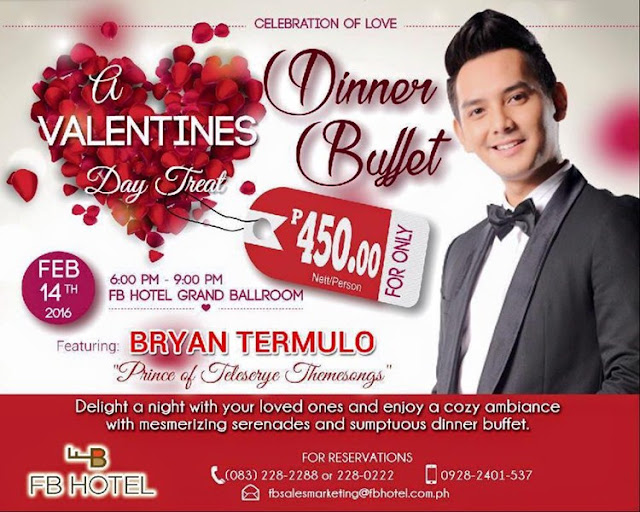 VALENTINES DAY TREAT: Bryan Termulo at FB Hotel