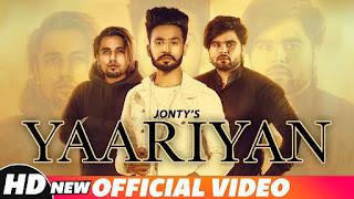 Yaariyan Lyrics  | Jonty | Ninja | A-Kay | Snappy | Shehnaz Gill